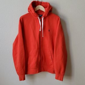POLO BY RALPH LAUREN Red zip up hoodie L